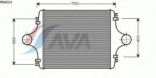 Интеркулер AVA QUALITY COOLING MN4024