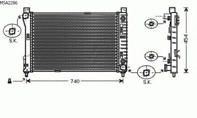 Радиатор, охлаждение двигателя AVA QUALITY COOLING MSA2286