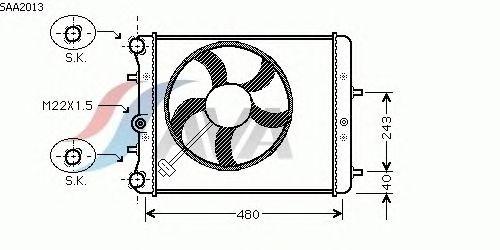 Радиатор, охлаждение двигателя AVA QUALITY COOLING SAA2013