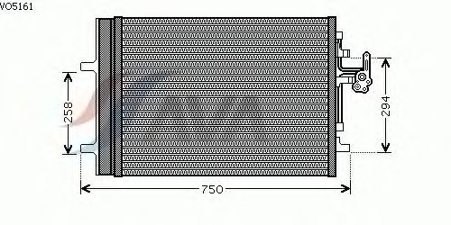 Радиатор кондиционера AVA QUALITY COOLING VO5161