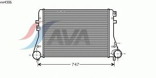 Интеркулер AVA QUALITY COOLING VW4306