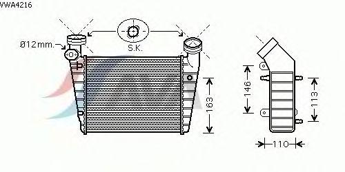 Интеркулер AVA QUALITY COOLING VWA4216