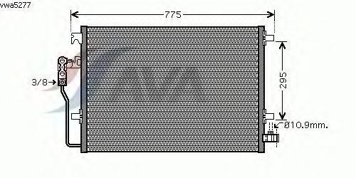 Радиатор кондиционера AVA QUALITY COOLING VWA5277