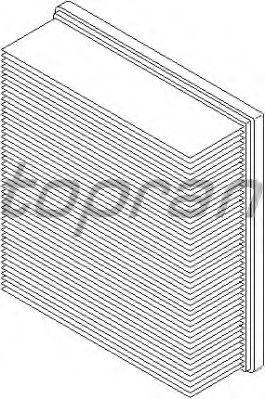Воздушный фильтр TOPRAN 109 043