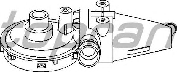 Клапан вентиляции картера TOPRAN 501 412