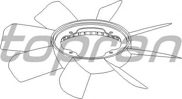 Крыльчатка вентилятора охлаждения TOPRAN 500 902