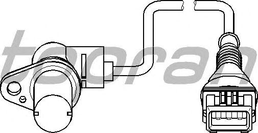 Датчик положения коленвала, распредвала TOPRAN 501 441