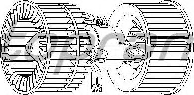 Вентилятор отопителя TOPRAN 501 517