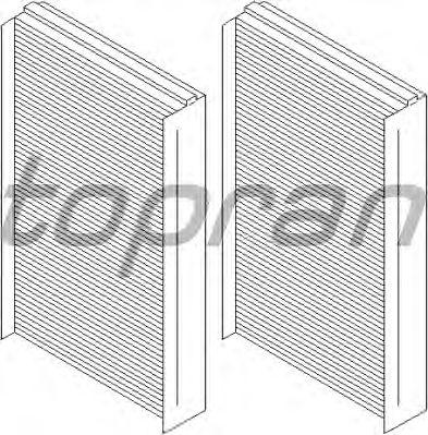 Фильтр салона TOPRAN 500 670