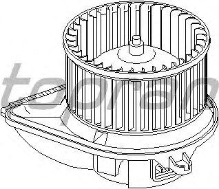 Вентилятор отопителя TOPRAN 401 544