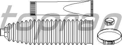 Комплект пыльников рулевой рейки TOPRAN 207 165