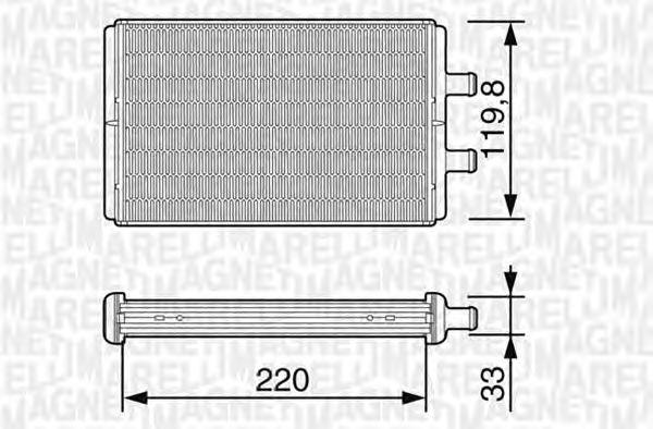 Радиатор отопителя MAGNETI MARELLI 350218226000