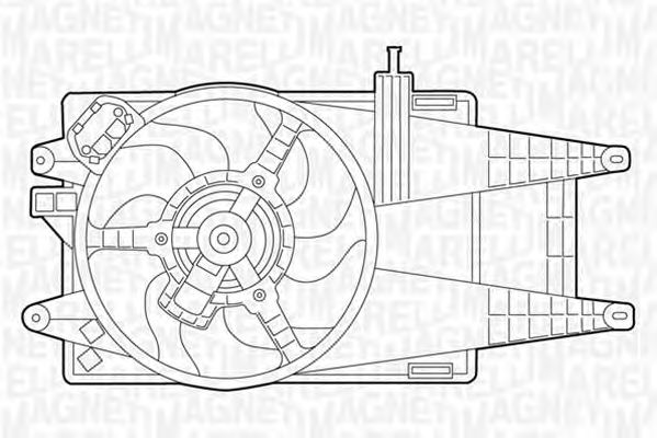 Вентилятор охлаждения MAGNETI MARELLI 069422049010