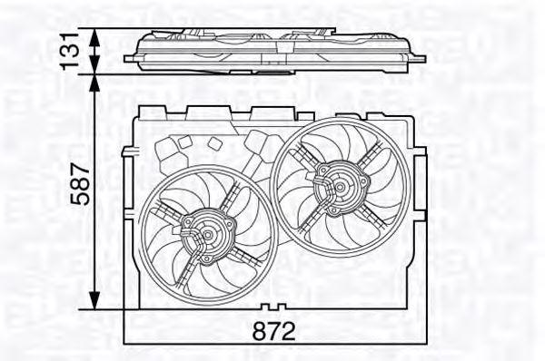 Вентилятор охлаждения MAGNETI MARELLI 069422582010