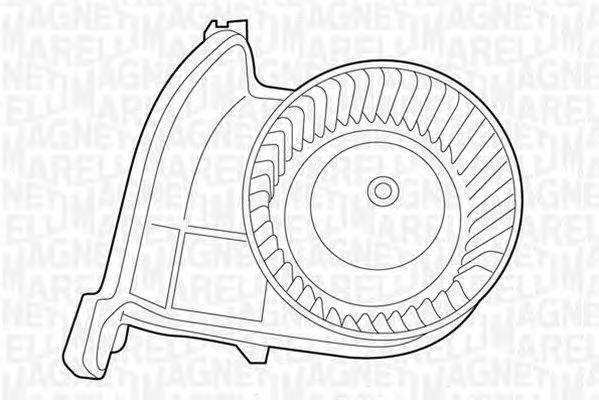 Вентилятор отопителя MAGNETI MARELLI 069401326010