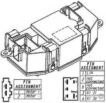 Регулятор, вентилятор салона BEHR HELLA SERVICE 5HL 351 321-521