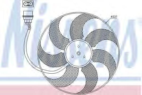 Вентилятор охлаждения NISSENS 85543