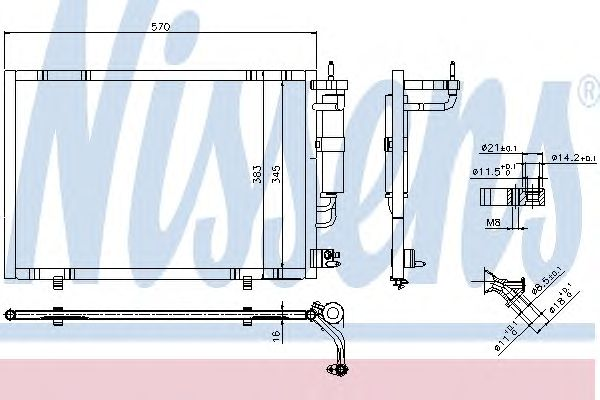 Радиатор кондиционера NISSENS 940277