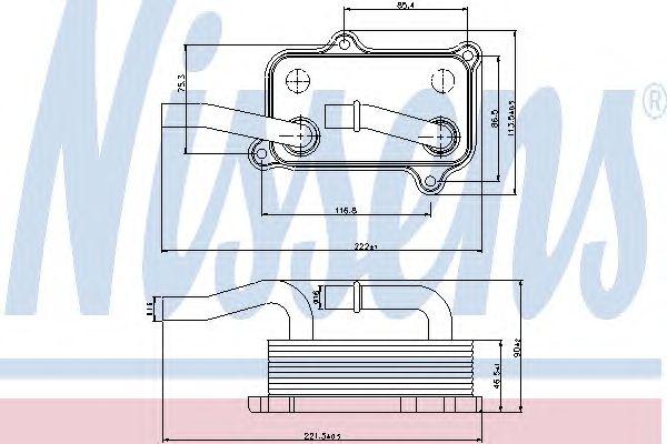 Масляный радиатор NISSENS 90599