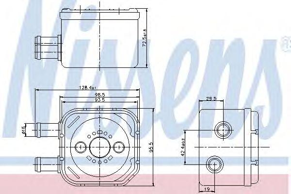 Масляный радиатор NISSENS 90652