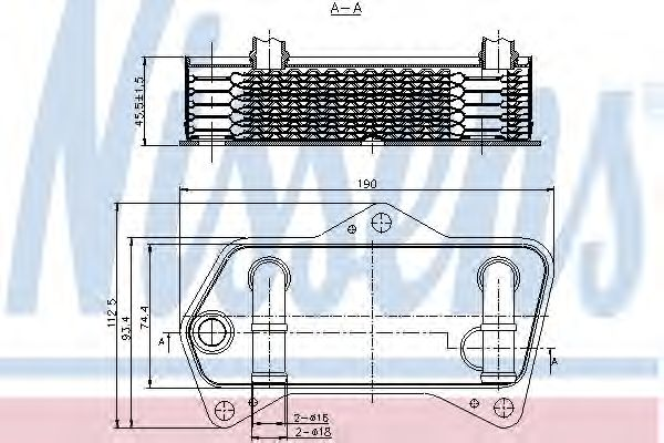 Масляный радиатор NISSENS 90653