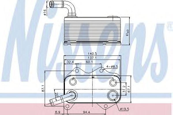 Масляный радиатор NISSENS 90660