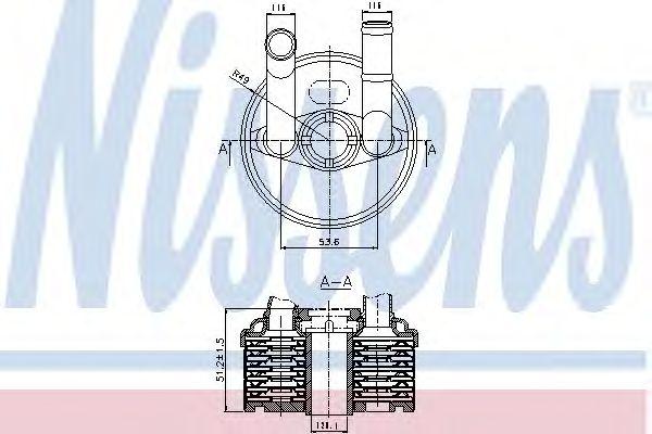 Масляный радиатор NISSENS 90666