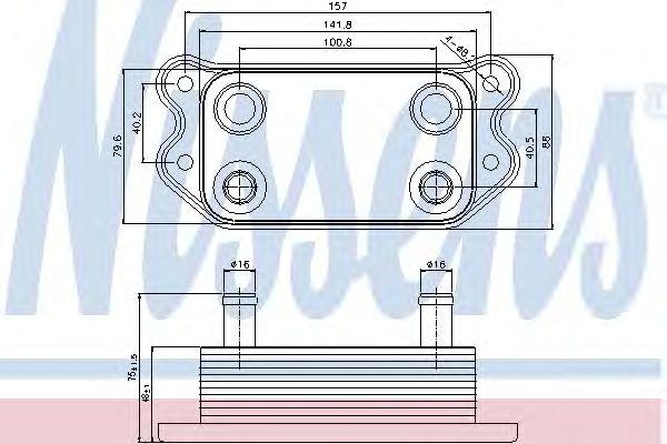 Масляный радиатор NISSENS 90676