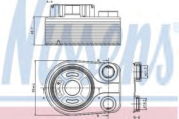 Масляный радиатор NISSENS 90705