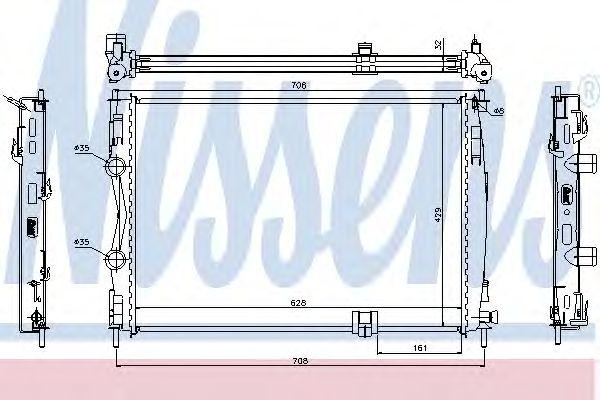 Радиатор, охлаждение двигателя NISSENS 67361