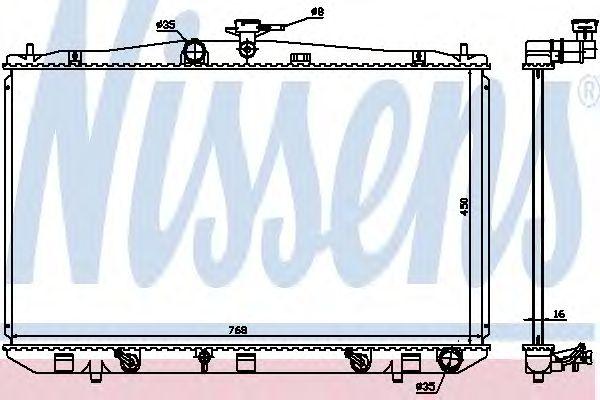 Радиатор, охлаждение двигателя NISSENS 646836