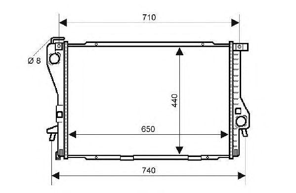 Радиатор, охлаждение двигателя QH International QER2117