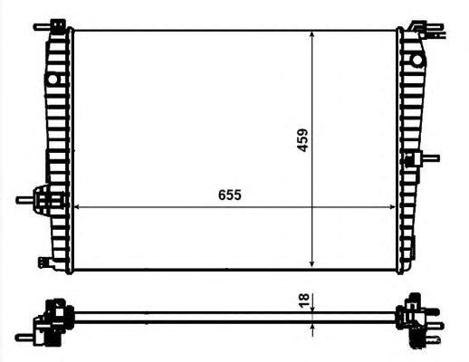Радиатор, охлаждение двигателя NRF 53011