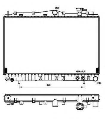Радиатор, охлаждение двигателя NRF 53259