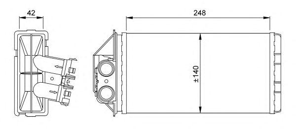 Радиатор отопителя NRF 53561