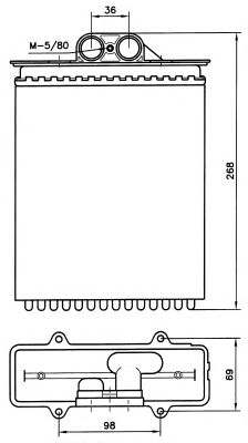 Радиатор отопителя NRF 58255