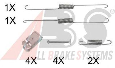 Монтажный комплект тормозных колодок A.B.S. 0888Q