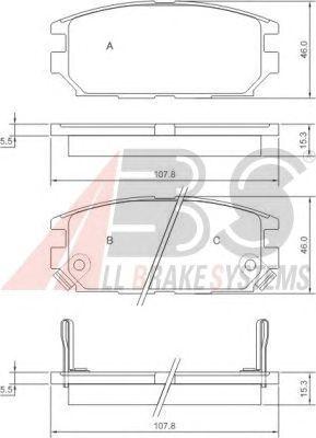 Тормозные колодки A.B.S. 36873