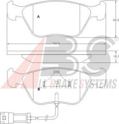 Тормозные колодки A.B.S. 36880