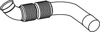 Труба выхлопного газа DINEX 56122