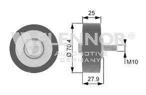 Направляющий / паразитный ролик  поликлинового ремня FLENNOR FU22934