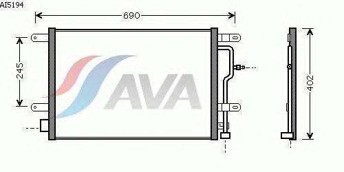 Радиатор кондиционера AVA QUALITY COOLING AI5194