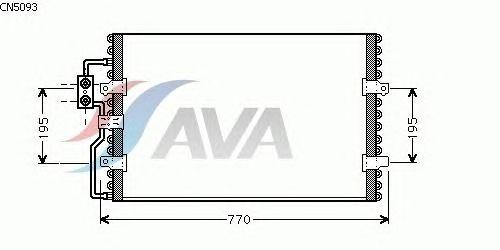 Радиатор кондиционера AVA QUALITY COOLING CN5093