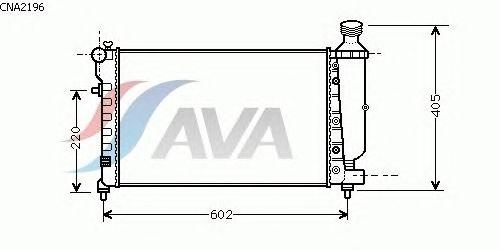 Радиатор, охлаждение двигателя AVA QUALITY COOLING CNA2196