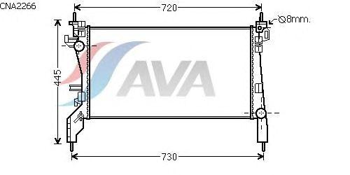 Радиатор, охлаждение двигателя AVA QUALITY COOLING CNA2266