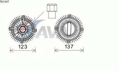 Вязкостная муфта вентилятора охлаждения AVA QUALITY COOLING FDC447
