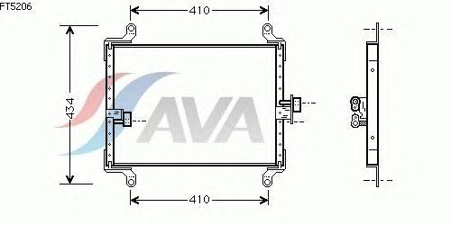 Радиатор кондиционера AVA QUALITY COOLING FT5206