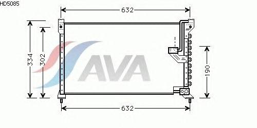 Радиатор кондиционера AVA QUALITY COOLING HD5085