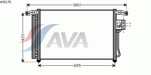 Радиатор кондиционера AVA QUALITY COOLING HY5175