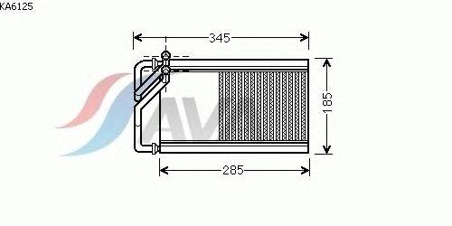 Радиатор отопителя AVA QUALITY COOLING KA6125